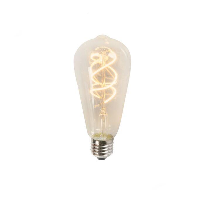 Keeratud-LED-hõõgniit-ST64-5W-2200K-selge