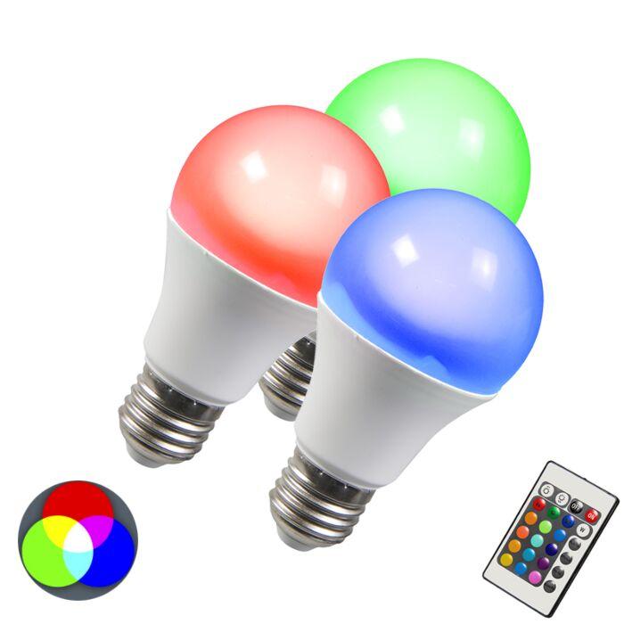 LED-pirn-RGB-E27-3W-komplekt-3