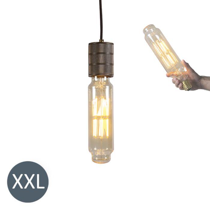 Rippuv-lamp-Torni-pronks-koos-reguleeritava-LED-lambiga