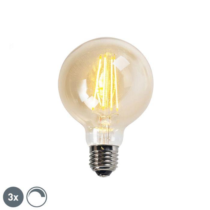 Komplektis-3-E27-hämardatavat-LED-hõõglampi-goldline-G95-5W-450LM-2200K