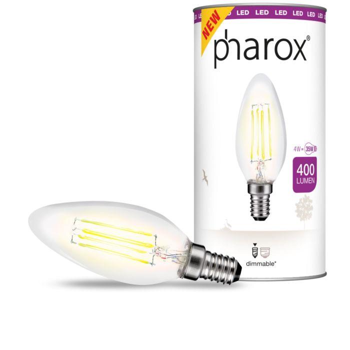Pharoxi-LED-küünlalamp-selge-E14-4W-400-luumenit
