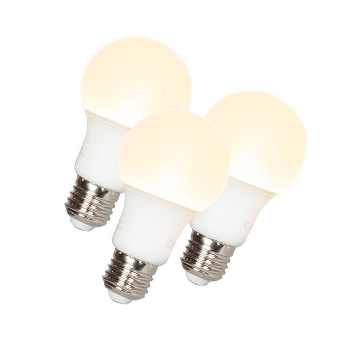 3-LED-lampi-komplekt-A60-E27-9W-3000K
