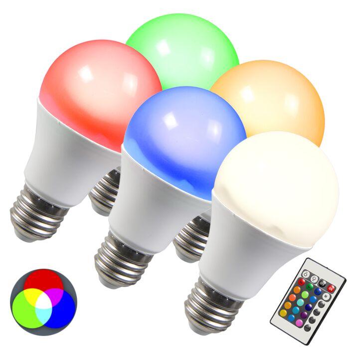 LED-pirn-RGB-E27-10W-eriti-soe-valge-komplekt-5-ga