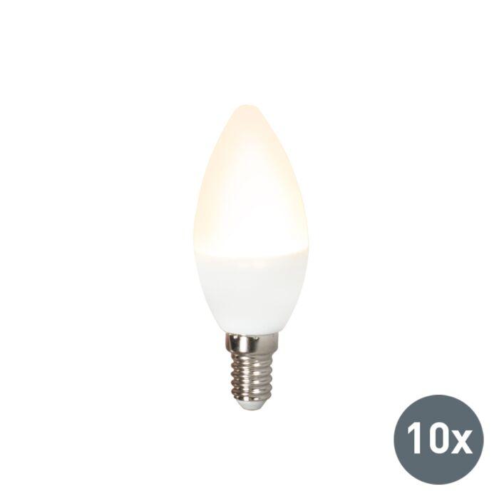 Komplektis-10-LED-lampi-C37-E14-3W-3000K