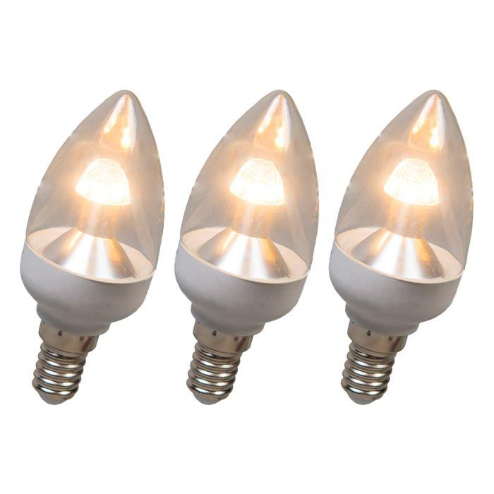 LED-küünlalamp-E14-4W-250-luumenit-soe-valge-Hämardatav-komplekt-3-ga