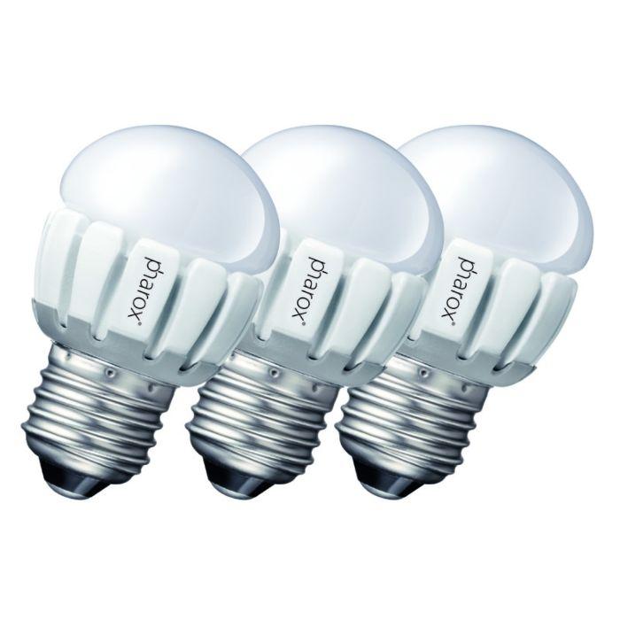 Komplektis-3-Pharox-LED-200-P45-E27-5W-230V