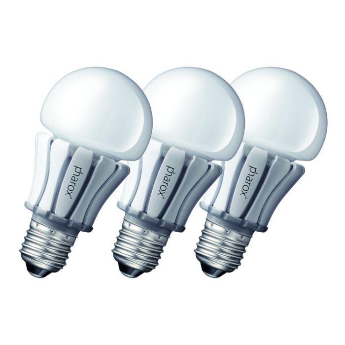 3-Pharoxi-LED-lambi-komplekt-400-E27-8W-230V