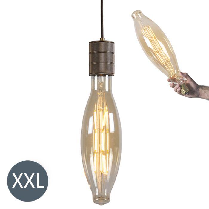 Rippvalgusti-Elips-pronks,-reguleeritav-LED-lamp