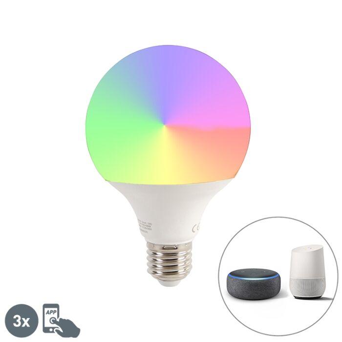 Nutikas-komplekt-3-E27-hämardatavat-LED-lampi-G95-11W-1050-lm-2200-4000K