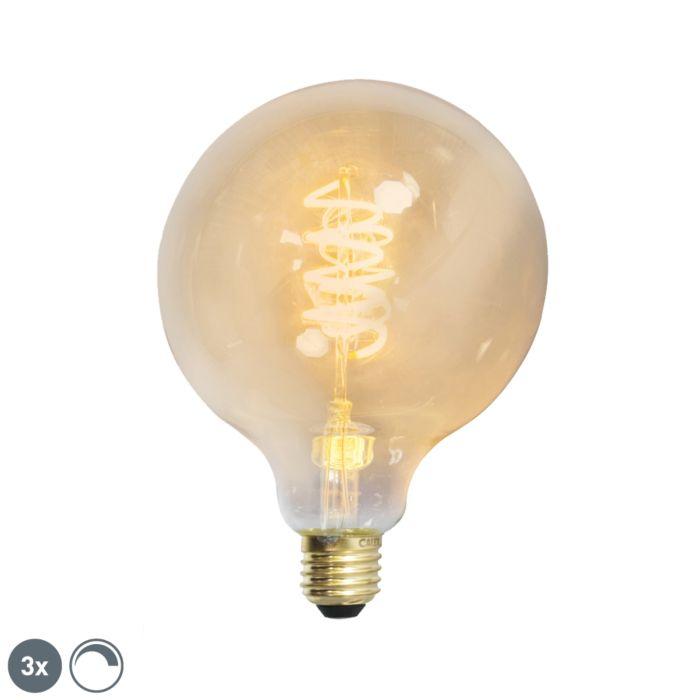 Komplektis-3-E27-hämardatavat-LED-keerdfilamenti-G125-kuldjoon