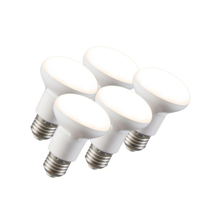 5-LED-helkurlampide-komplekt-R63-E27-240V-8W-2700K-hämardatav