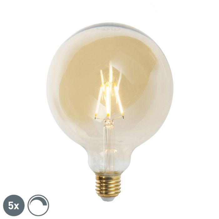 5-E27-hämardatavat-LED-hõõglampi-komplekt-G125-goldline-2200K