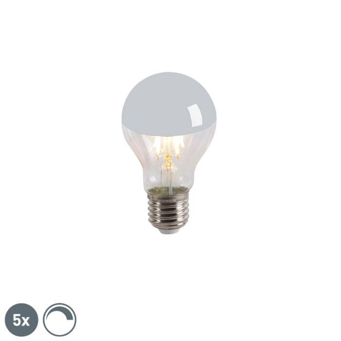 5-LED-hõõglambi-peapeegli-komplekt-E27-240V-4W-300lm-A60-hämardatav