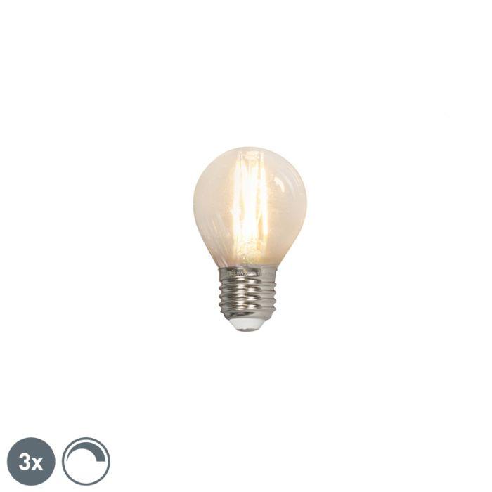 3-LED-hõõgniidiga-kuullampi-komplekt-E27-240V-3,5W-350lm-P45-hämardatav