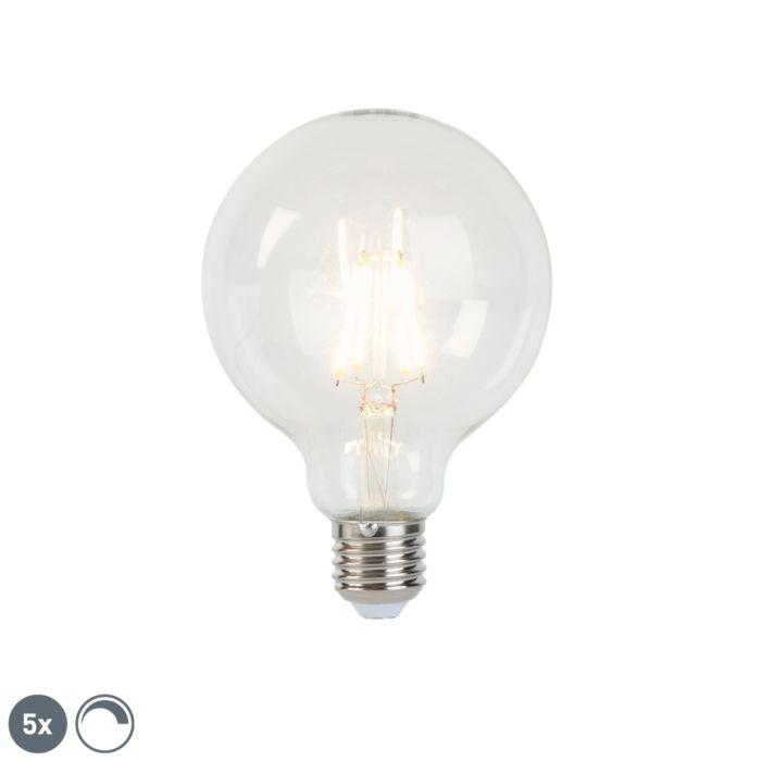 5-E27-hämardatavat-LED-hõõglampi-komplekt-G95-5W-470-lm-2700K