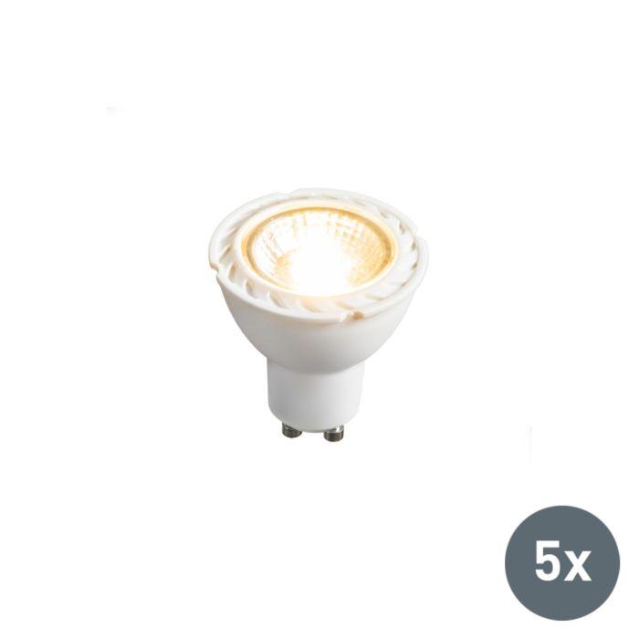 5-LED-lampi-komplekt-GU10-240V-7W-2700K-hämardatav