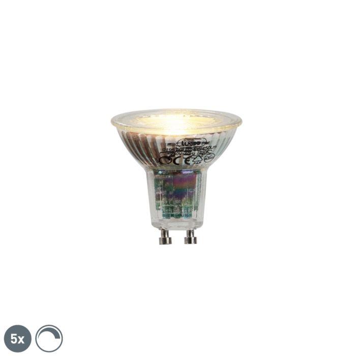 5-GU10-LED-lampi-komplekt-6W-450lumen-2700K-hämardatav