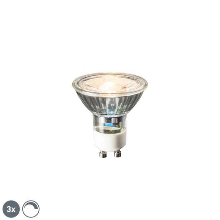 3-GU10-LED-lampi-komplekt-6W-450-luumenit-2700K-hämardatav