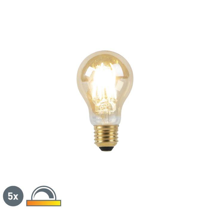 Komplektis-5-E27-LED-lampi-8W-2000-2600K-hämaras-kuni-kuldjoone-hõõgniidiga