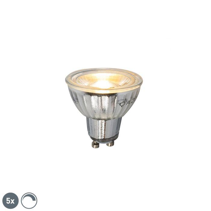 5-GU10-hämardatav-LED-lamp-7W-500LM-2700K-komplekt