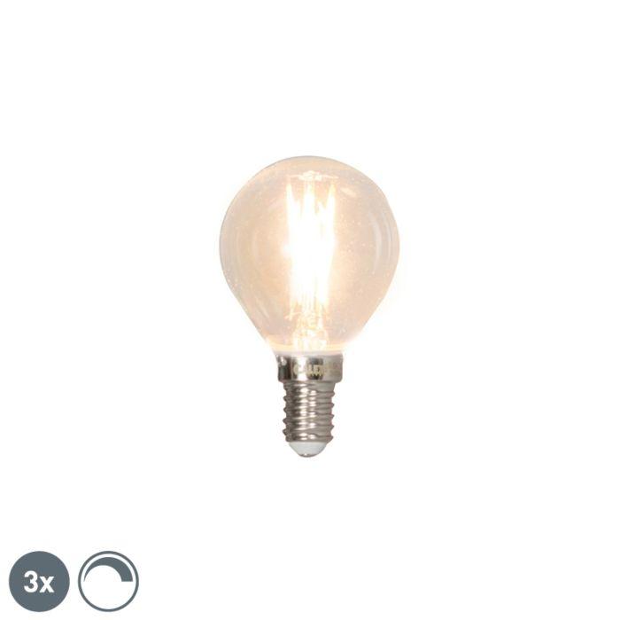 Komplektis-3-E14-reguleeritavat-LED-hõõgniidiga-kuullampi-3W-350lm-2700K
