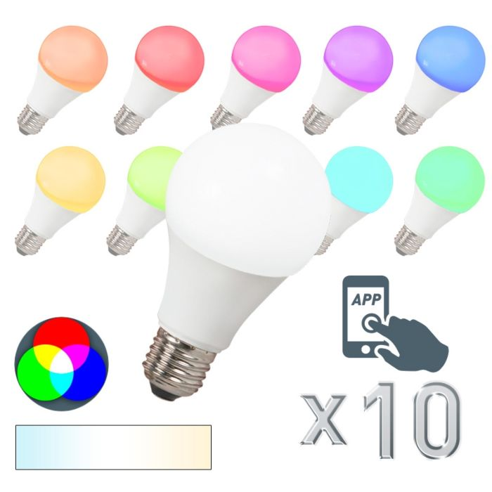 10-LED-lambi-komplekt-E27-240V-7W-500lm-A60-Smart-Light