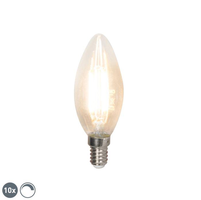 10-LED-hõõgniidiga-küünlavalgusti-komplekt-E14-240V-3,5W-350lm-B35-hämardatav