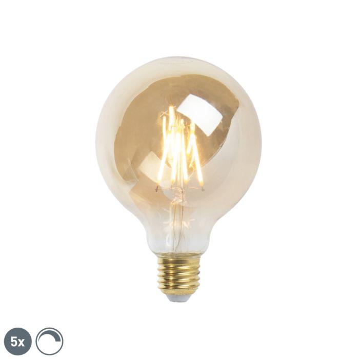 5-E27-hämardatav-LED-hõõglambi-komplekt-9,5-cm-5W-360-luumenit-2200K