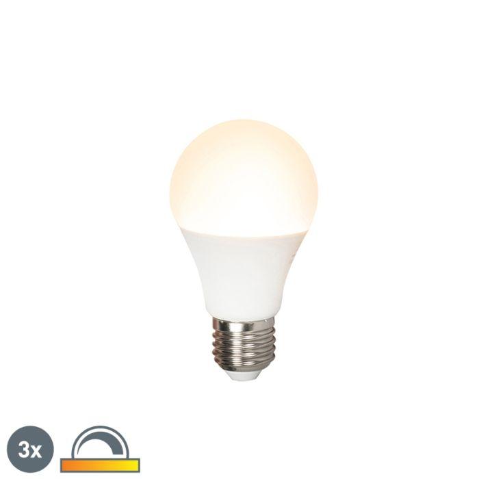 Komplektis-3-LED-lampi-E27-240V-7W-510lm-A60-hämardatav