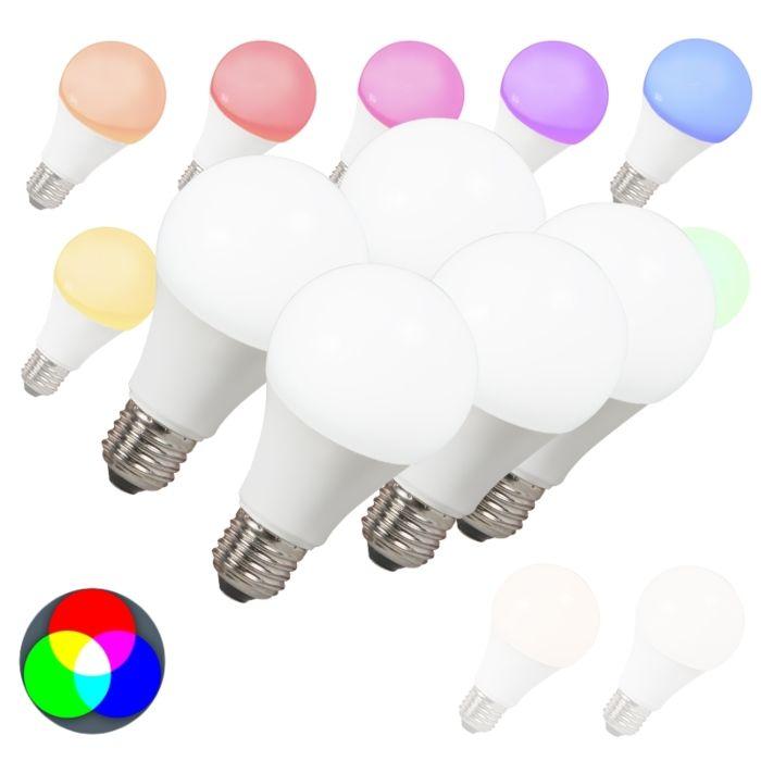 5-LED-pirni-komplekt-E27-240V-7W-500lm-A60-Smart-Light