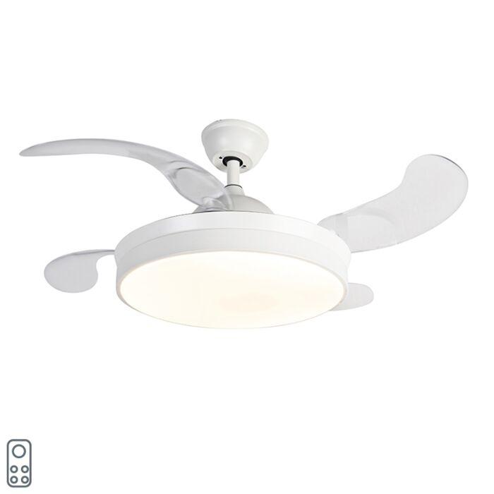 Laeventilaator-valge-puldiga-koos-LED-ga---Xiro