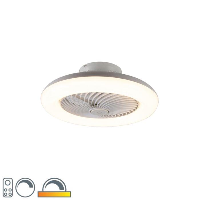 Disainlaeventilaator-valge-koos-LED-ga-reguleeritav---Clima