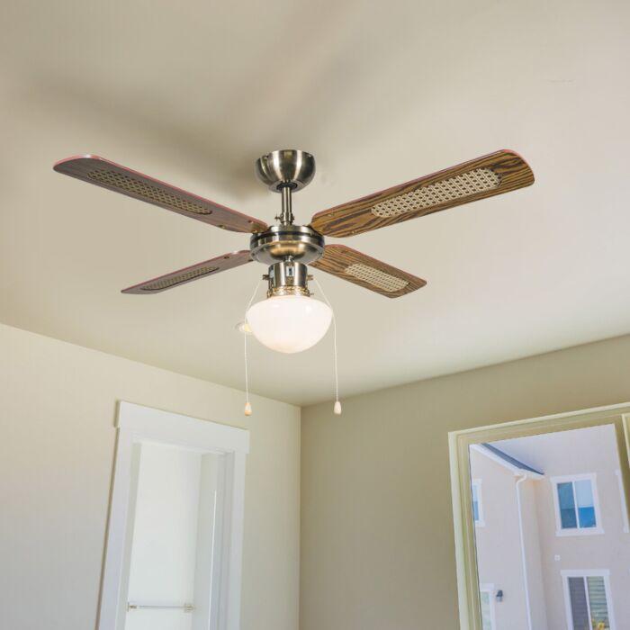 Tööstuslik-laeventilaator-lambiga-100-cm-puit---tuul