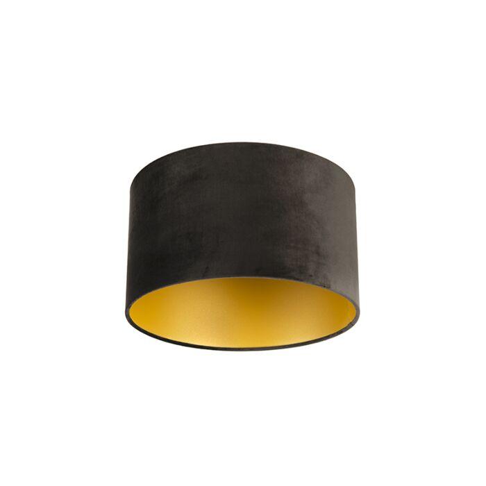 Veluurist-lambivari-must-35/35/20-kuldse-sisekujundusega