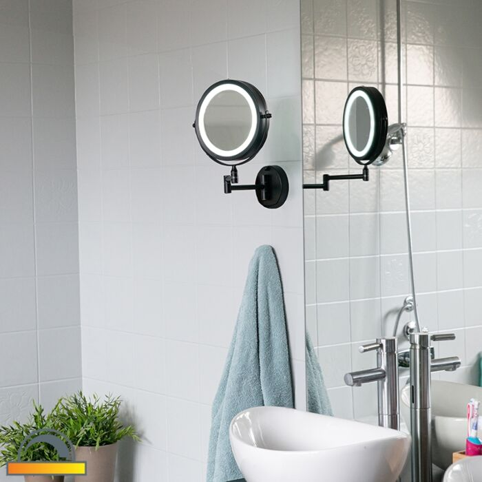 Disain-vannitoa-peegel-must-koos-reguleeritava-LED-ga-IP44---Vicino