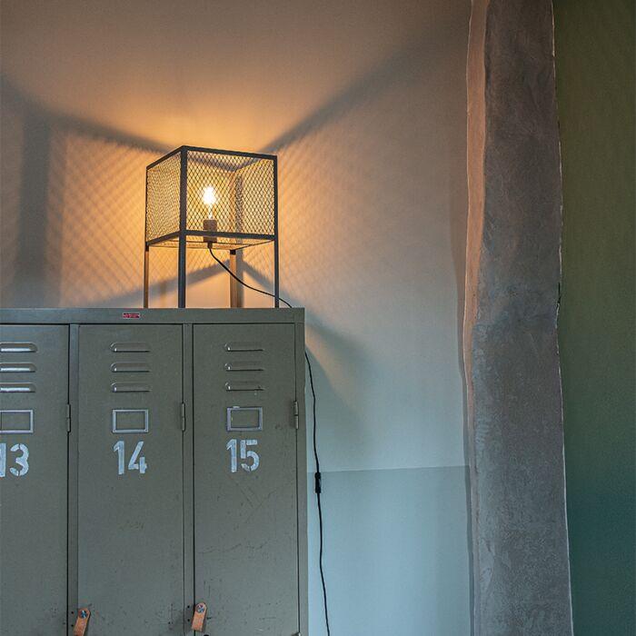 Tööstuslik-laualamp-antiikhõbe---Cage-Robusto