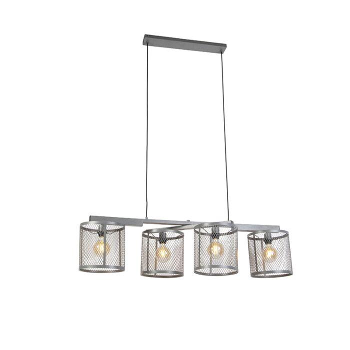 Tööstuslik-rippvalgusti-antiikhõbedane-4-valgusti---Cage-Robusto